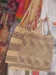 Woven bags featuring traditional designs