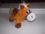 A small horse stuffed toy